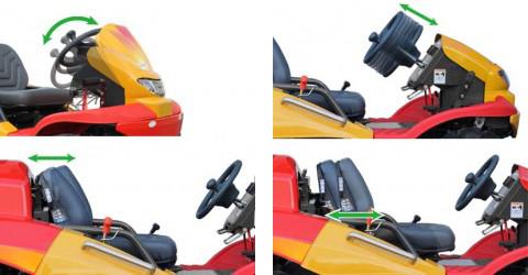 快適な乗り心地と操作性。LMSステアリング&リクライニグシート。